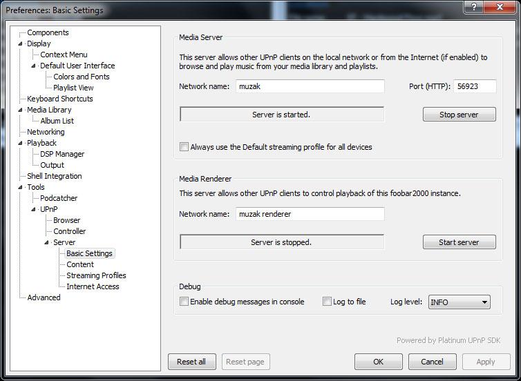 how to change my upnp settings
